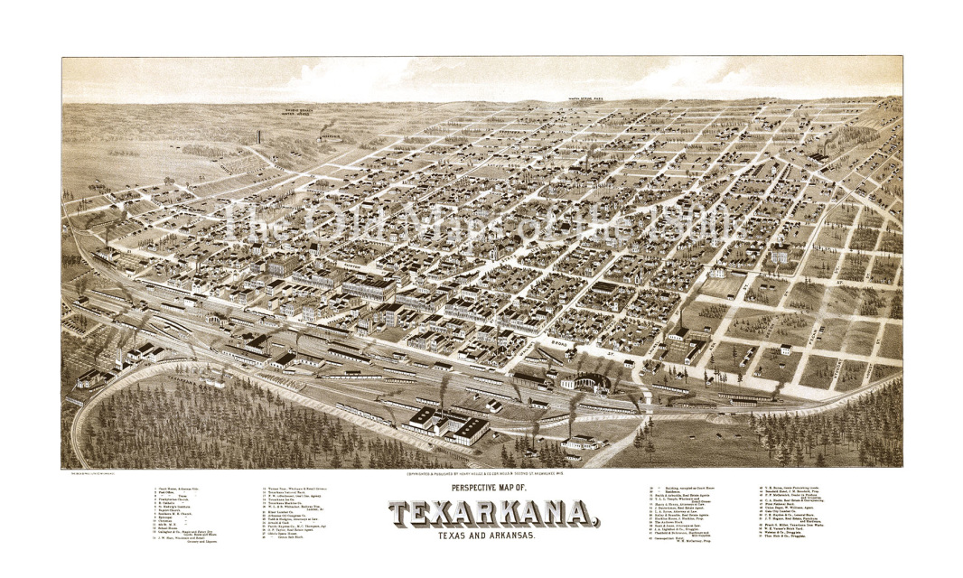 Texarkana, Arkansas and Texas in 1888